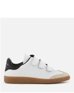 Women's Beth Leather Triple Strap Trainers - White