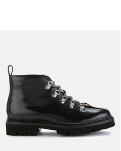 Women's Bridget Leather Hiking Style Boots - Black