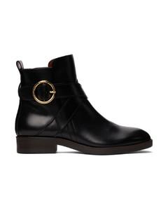 黑色Lyna踝靴