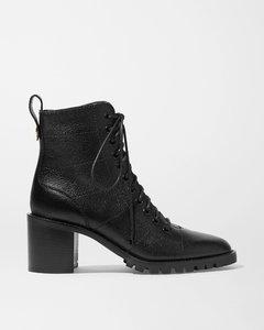 Cruz 65纹理皮革踝靴