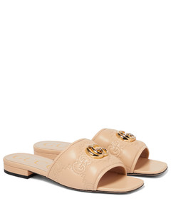 Leather Sneakers In White & Pink
