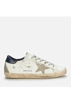 Women's Superstar Leather Trainers - White/Ice/Night Blue