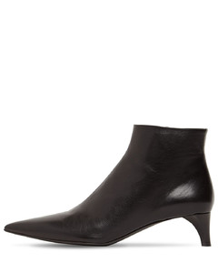 45mm Leather Ankle Boots