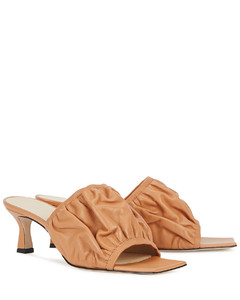 Ava 50 light brown leather mules