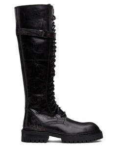 SSENSE发售黑色Foil Scrub高筒靴