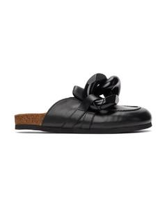 黑色Chain乐福鞋