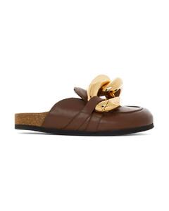 棕色Chain乐福鞋