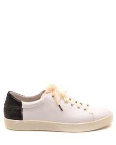 suede and knit sneakers