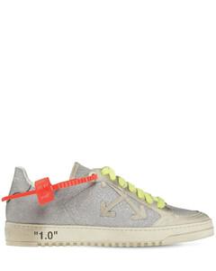 20mm Arrow Glitter & Suede Sneakers
