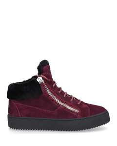 High-Top Sneakers KRISS suede Logo red