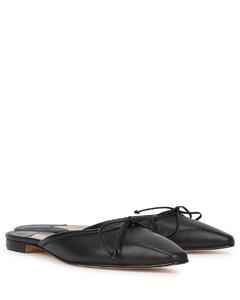 Ballerimu black leather mules