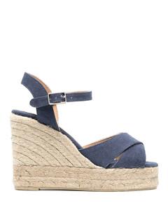 Skysan 105 black satin sandals