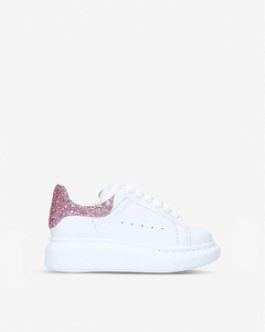 Runway glitter-embellished leather low-top trainers 2-9 years
