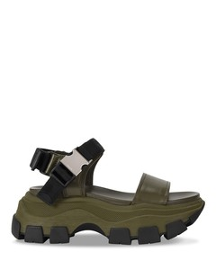Green chunky sandals