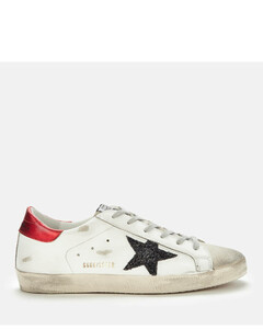 Women's Superstar Leather Trainers - Ice/White/Black/Red