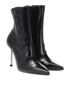 Victorian皮革及踝靴