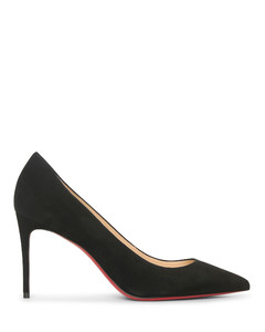 Kate 85 black suede pumps