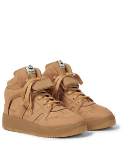 Brooklee绒面革高帮运动鞋