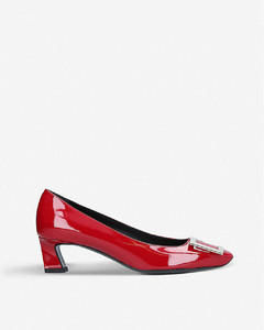 Trompette patent leather courts
