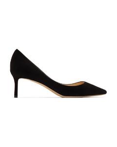 黑色Romy 60绒面革高跟鞋