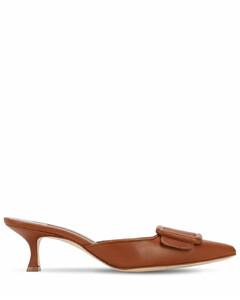 50mm Maysale Nappa Leather Mules