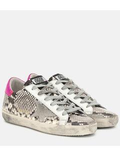 Superstar压花皮革运动鞋