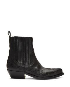 黑色Santiago限量版踝靴