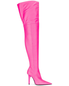 Knife Shark Over the Knee Boots in Pink