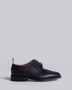 经典卵石纹翼尖布洛克鞋