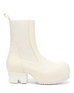 Beatle platform leather Chelsea boots