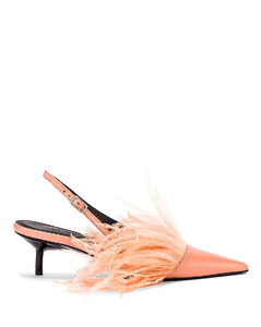 Feather Slingback in Pink
