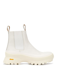 Vibram sole ankle boots