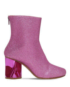80mm Glittered Sock Ankle Boots