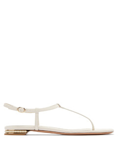 Casati faux pearl-heeled leather T-bar sandals