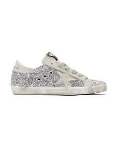 SSENSE发售银色Superstar亮片运动鞋
