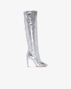 70mm Swarovski Fishnet Satin Mules