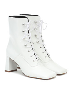 Claude lace-up leather ankle boots