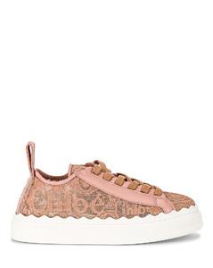 Chloe Lauren Lace Sneakers in Pink