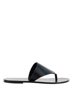 Mindy 80 burgundy leather sandals