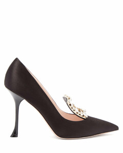 RV Broche crystal-embellished satin pumps