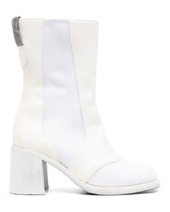 黑色方头踝靴