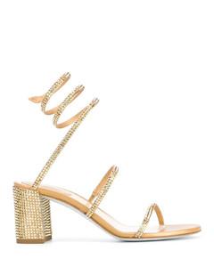 crystal-embellished spiral sandals