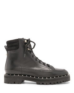 LEATHER SOUL ROCKSTUD HIKING靴子