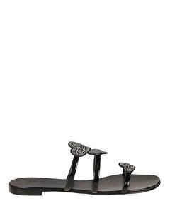 Anya Love black flat sandals
