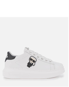 Women's Kapri Karl Ikonic Leather Chunky Trainers - White/Black