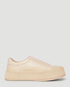 Leather Sneakers in Beige