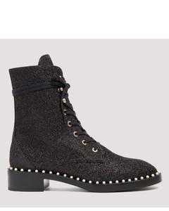 Sondra black glittered ankle boots