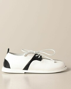 derby in bicolor leather