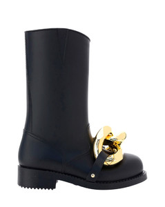 Ankle Boots Tabi H30 In Black Soft Vintage Leather