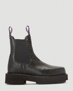 Ortega Snake-Print Boots in Black
